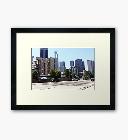 Downtown Los Angeles Skyline Framed Print