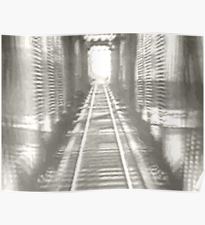 the light at the end of the tunnel...by the bi-polar express Poster