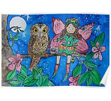 Tea in a Tree with BooBook Owl, Norfolk Island Poster