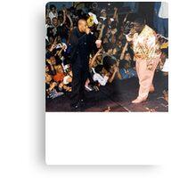 Jay-Z & Biggie Smalls Performing 1990s Rap Metal Print