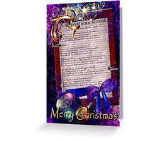 A Christmas Carol  Greeting Card
