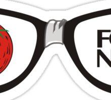 Funny food nerd tomato broken eyeglasses Sticker