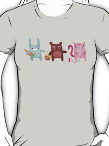 Bunny Bear Kitty Cuties T-Shirt