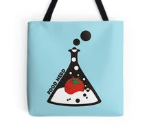 Funny food nerd tomato chemistry beaker Tote Bag