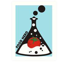 Funny food nerd tomato chemistry beaker Art Print