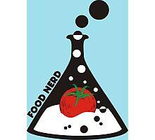 Funny food nerd tomato chemistry beaker Photographic Print