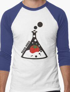 Funny food nerd tomato chemistry beaker Men's Baseball ¾ T-Shirt