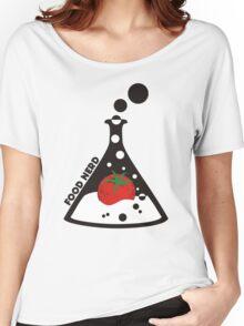 Funny food nerd tomato chemistry beaker Women's Relaxed Fit T-Shirt