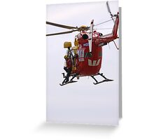 Police Rescue in Action Greeting Card
