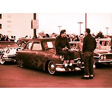 Kustom, Kids n Kruisin Shoebox 1950 Ford Photographic Print