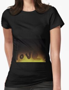 ♡ love ♡ Womens Fitted T-Shirt