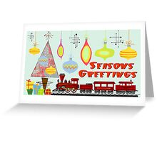 Seasons Greetings 1950's Style 3 Greeting Card