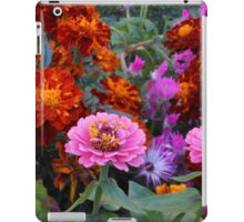 Flowerbed with Zinnias and Marigolds iPad Case/Skin