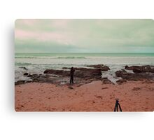me in the cold, shooting, shivering Canvas Print