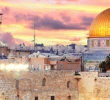 Jerusalem Hamsa Sticker