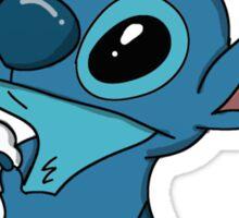 Stitch loves ice cream Sticker