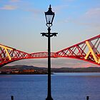 Streetlight &amp; Forth Rail Bridge ~ South Queensferry  by The Creative Minds