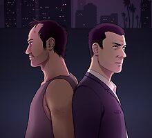 GTAV - Michael and Trevor by kerlasia