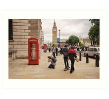Westminster Photographer in Action Art Print