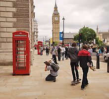 Westminster Photographer in Action by DonDavisUK