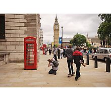 Westminster Photographer in Action Photographic Print