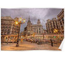 Stormy Dusk @ Plaza de Canalejas  Poster
