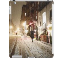 Snowy Night - Lower East Side - New York City iPad Case/Skin