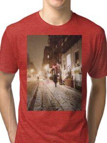 Snowy Night - Lower East Side - New York City Tri-blend T-Shirt