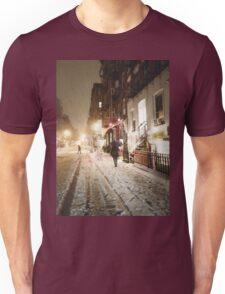 Snowy Night - Lower East Side - New York City Unisex T-Shirt