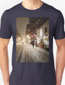 Snowy Night - Lower East Side - New York City T-Shirt