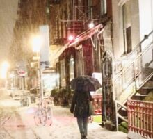 Snowy Night - Lower East Side - New York City Sticker