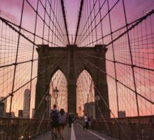 Brooklyn Bridge Sunset Sticker