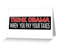 Think Obama Greeting Card
