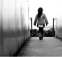 Girl on a Bridge Photographic Print