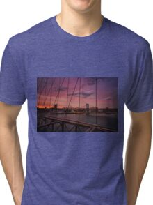 Beautiful New York City Sunset Tri-blend T-Shirt