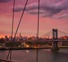 Beautiful New York City Sunset Sticker
