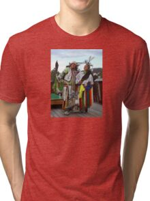 USA: Mt Rushmore/ Crazy Horse Mountain, S. Dakota Tri-blend T-Shirt