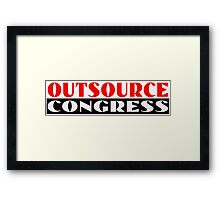 Outsource Congress Framed Print