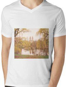 Central Park Springtime Landscape Mens V-Neck T-Shirt