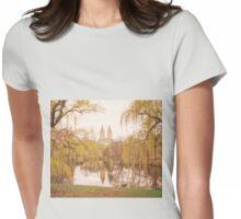 Central Park Springtime Landscape Womens Fitted T-Shirt