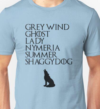 Stark Direwolves Unisex T-Shirt