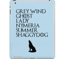 Stark Direwolves iPad Case/Skin