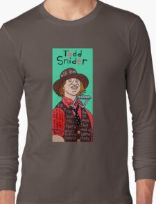 Todd Snider Pop Folk Art Long Sleeve T-Shirt