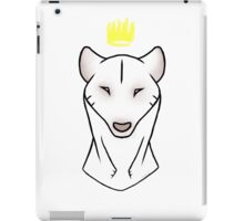 the white king iPad Case/Skin