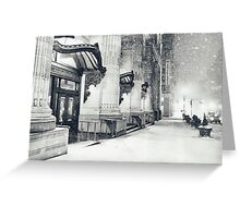 Winter Night - Snow Falls in the Big Apple - New York City Greeting Card
