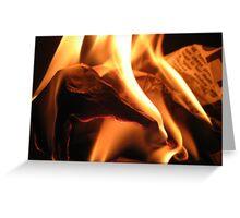 Burning paper Greeting Card