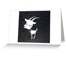 Little Billy Goat Gruff Greeting Card