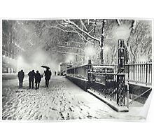 Winter Night - New York City Poster