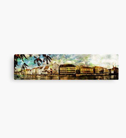 Zurich riverview Canvas Print