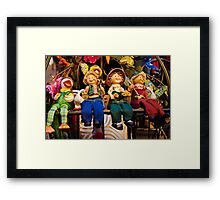 Ceramic toys Framed Print